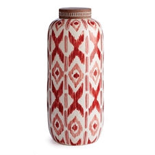 "Ikat 18"" Lidded Jar 