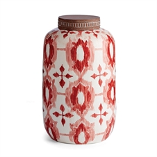 "Ikat 14"" Lidded Jar 