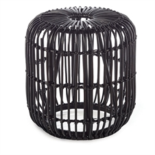 Rattan Stool Black | Plum & Post