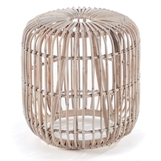 Rattan Stool Whitewash | Plum & Post