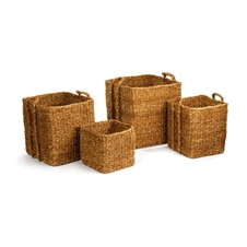 Seagrass Apple Baskets With Bin, Set of Three | Plum & Post
