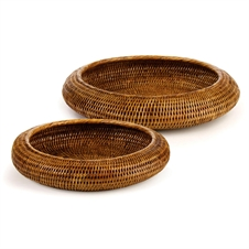 Burma Rattan Rounded Baskets, Set of Two | Plum & Post
