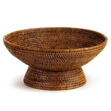 Burma Rattan Offering Bowl, Brown | Plum & Post